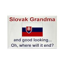Gd Lkg Slovak Grandma Rectangle Magnet