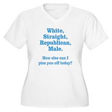 White Straight Re T-Shirt