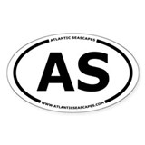 Atlantic Seascapes AS Oval Decal