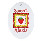 Sweet Alexis Oval Ornament