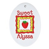 Sweet Alyssa Oval Ornament