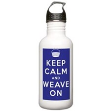 Keep Calm and Weave On Water Bottle