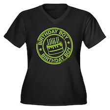 Birthday Boy Women's Plus Size Dark V-Neck T-Shirt