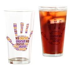 NO Gracias Drinking Glass