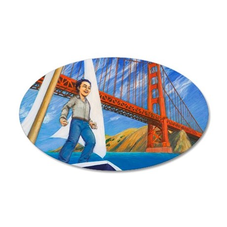 HanaesGGBridge 35x21 Oval Wall Decal
