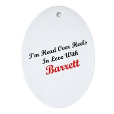 In Love with Barrett Oval Ornament
