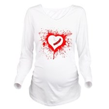 Broken Hearted again Long Sleeve Maternity T-Shirt