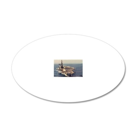 uss midway cva rectangle mag 20x12 Oval Wall Decal