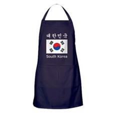 South Korea Flag Apron (dark)