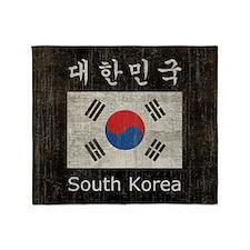 Vintage South Korea Throw Blanket