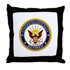 USN Navy Retired Eagle Throw Pillow