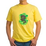 Eel Cartoon Yellow T-Shirt