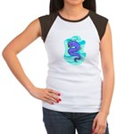 Eel Cartoon Women's Cap Sleeve T-Shirt