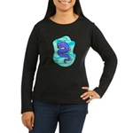 Eel Cartoon Women's Long Sleeve Dark T-Shirt