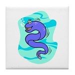 Eel Cartoon Tile Coaster