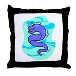 Eel Cartoon Throw Pillow