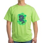 Eel Cartoon Green T-Shirt