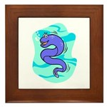 Eel Cartoon Framed Tile