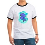Eel Cartoon Ringer T