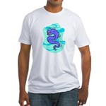 Eel Cartoon Fitted T-Shirt