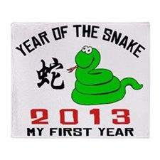 Year of Snake 2013 Throw Blanket