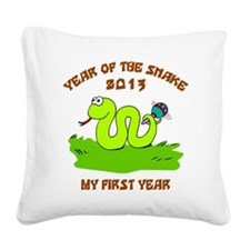 Year of Snake 2013 Square Canvas Pillow