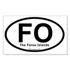 FO - The Faroe Islands Oval Decal