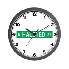 Halsted St., Chicago (US) Wall Clock