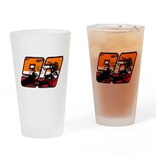 93ghostorange Drinking Glass
