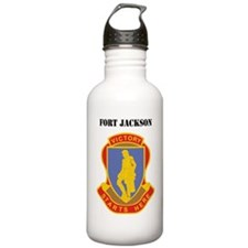 Fort Jackson with Text Sports Water Bottle