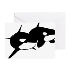 Orca, Killer Whale Couple Greeting Card