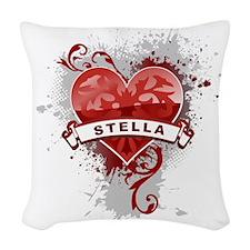 Love Stella Woven Throw Pillow