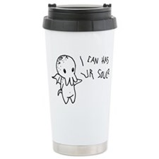 Cthulhu Can Has Ur Soul? Ceramic Travel Mug