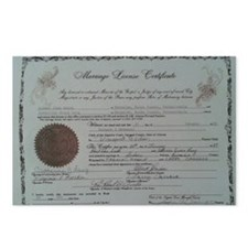 Your Marriage License Her Postcards (Package of 8)