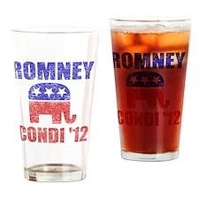Romney Condi 2012 Drinking Glass