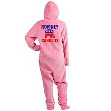 Romney Condi 2012 Footed Pajamas