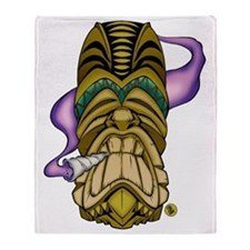 Smokin Tiki Throw Blanket