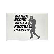 Score With A Football Player Rectangle Magnet