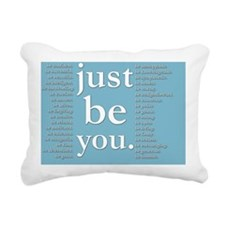just be you (blue) Rectangular Canvas Pillow