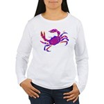 Cancer Crab Art Women's Long Sleeve T-Shirt
