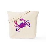 Cancer Crab Art Tote Bag