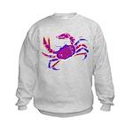 Cancer Crab Art Kids Sweatshirt