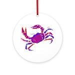 Cancer Crab Art Ornament (Round)