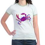 Cancer Crab Art Jr. Ringer T-Shirt