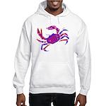 Cancer Crab Art Hooded Sweatshirt