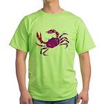Cancer Crab Art Green T-Shirt