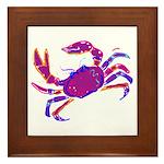 Cancer Crab Art Framed Tile