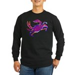 Cancer Crab Art Long Sleeve Dark T-Shirt