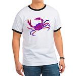 Cancer Crab Art Ringer T