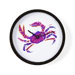 Cancer Crab Art Wall Clock